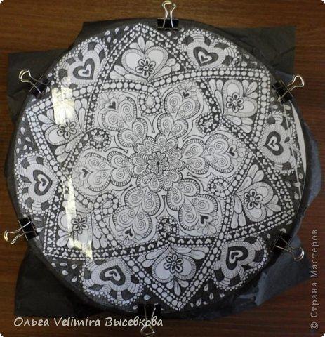 Декор предметов Роспись Тарелка Сердце Востока  МК для начинающих Краска Стекло фото 2