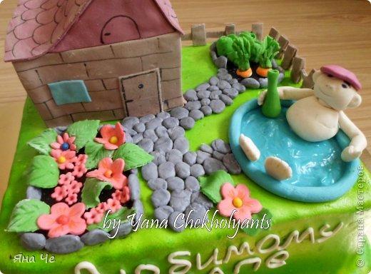 тортик для папы-пенсионера, который строит дачу... фото 2