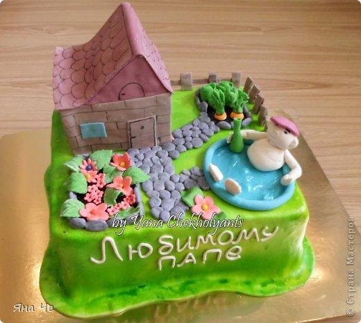 тортик для папы-пенсионера, который строит дачу...