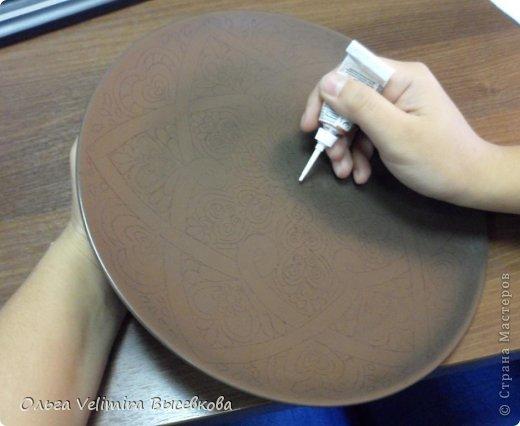 Декор предметов Роспись Тарелка Сердце Востока  МК для начинающих Краска Стекло фото 4