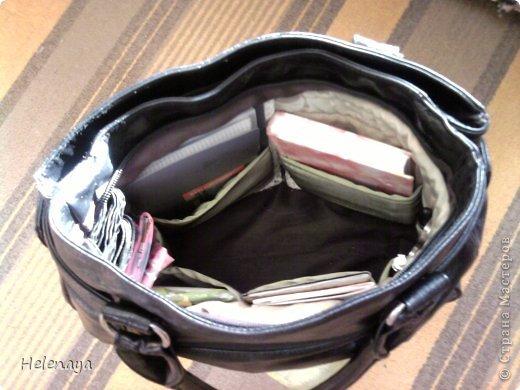 Поделка изделие Шитьё Оргнайзер в сумку Нитки Ткань фото 4