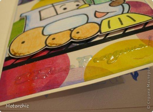 Открытка День рождения Аппликация Детская открытка Бумага Картон Скотч фото 2