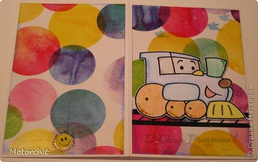 Открытка День рождения Аппликация Детская открытка Бумага Картон Скотч фото 4