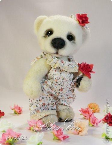 Сшила новое платье - комбинезончик для мишки Анюты  и шляпку !!))                                     фото 4