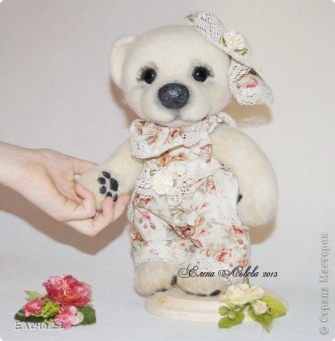 Сшила новое платье - комбинезончик для мишки Анюты  и шляпку !!))                                     фото 1
