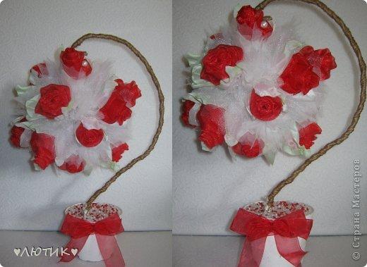 из искуственных тюльпанов и фатина фото 3