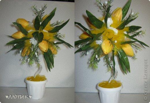 из искуственных тюльпанов и фатина фото 1