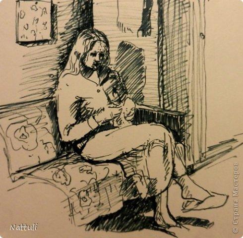 Картина панно рисунок Рисование и живопись Жизнь в картинках 5 Леночка Бумага Карандаш фото 6.