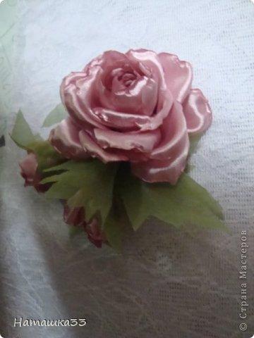 Цумами Канзаши - цветы из ткани от Наталии.