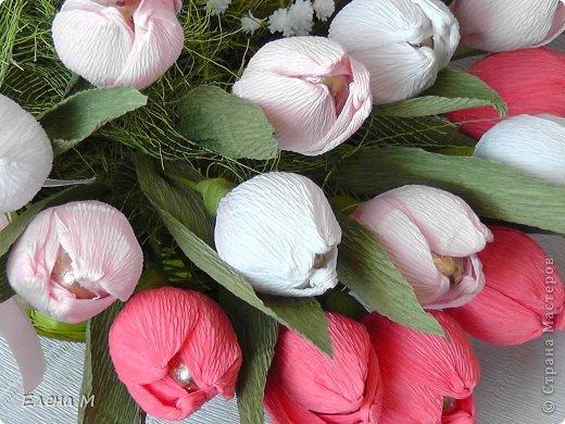 Тюльпаны с конфетами из бумаги своими руками