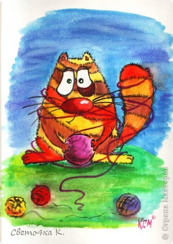 Рисованные котята фото 4