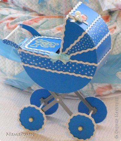 Как сделать из бумаги коляску для барби