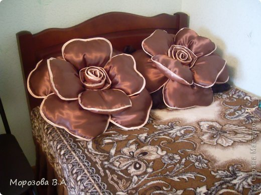 Декоративная подушка роза своими руками мастер-класс