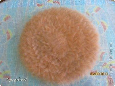 Гардероб Мастер-класс Валяние фильцевание Валяная шляпка для куклы  Шерсть фото 5