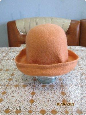 Гардероб Мастер-класс Валяние фильцевание Валяная шляпка для куклы  Шерсть фото 24