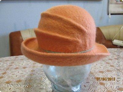 Гардероб Мастер-класс Валяние фильцевание Валяная шляпка для куклы  Шерсть фото 26