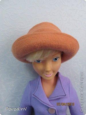 Гардероб Мастер-класс Валяние фильцевание Валяная шляпка для куклы  Шерсть фото 27