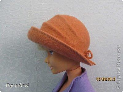 Гардероб Мастер-класс Валяние фильцевание Валяная шляпка для куклы  Шерсть фото 1