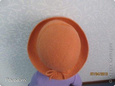 Гардероб Мастер-класс Валяние фильцевание Валяная шляпка для куклы  Шерсть фото 30