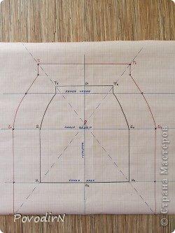 Увеличение выкройки для получения шаблона. фото 5