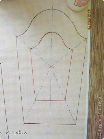Увеличение выкройки для получения шаблона. фото 8