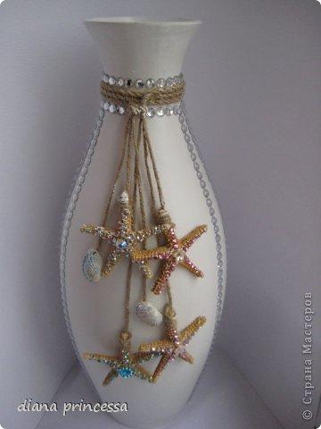 Декор предметов декор вазы Бисер Гипс фото 1.