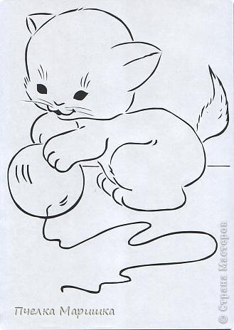 Картина панно рисунок Вырезание Котятки + шаблоны Бумага фото 22