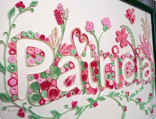 Quilled Name Страна Мастеров