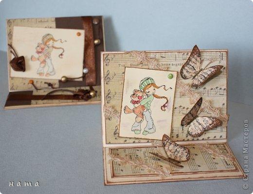 Благодаря бабочкам Светланки (КотМяу) СПАСИБО!!! за них!!!  родились открыточки фото 6