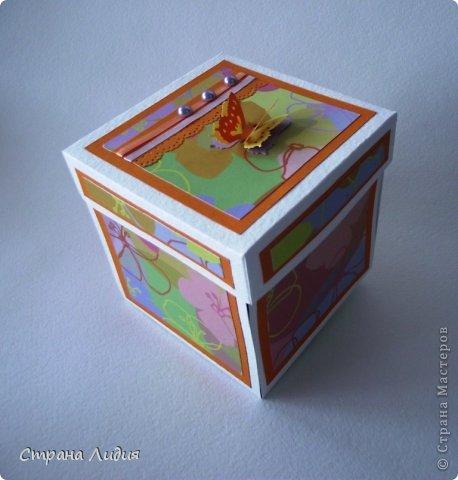 Скрапбукинг Упаковка День рождения Аппликация Коробочки Бумага Бусинки Ленты фото 3.