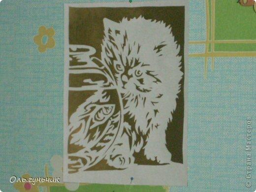Декор предметов Интерьер Вырезание Силуэтные котики и не только Бумага фото 10.