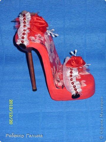 вот собственно туфли, выполнены в технике папье маше+декупаж фото 18