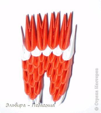 Мастер-класс Поделка изделие Новый год Оригами китайское модульное Санта-Клаус Бумага фото 12