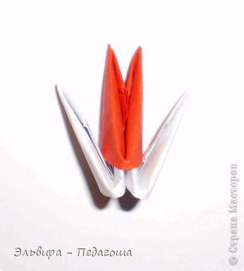 Мастер-класс Поделка изделие Новый год Оригами китайское модульное Санта-Клаус Бумага фото 3