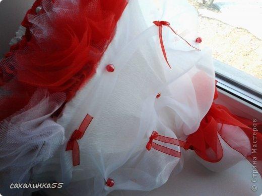 """Здравствуйте,жители страны мастеров! Вот наконец то смастерила дочери букет в подарок на день рождения. Розы из гофрированной бумаги делала в первые,до этого работала с органзой и тканью,да еще делала розы из атласных лент. Спасибо Свете Мотюль,Анне Марцевой Анастасии Резуновой, розы делала по их МК.(они получились все разные) . Еще отдельное спасибоХристине Гуменюк,которая собрала в своемМК"""" Цветы... как я их делала"""" все ссылки на МК по изготовлению цветов. фото 5"""