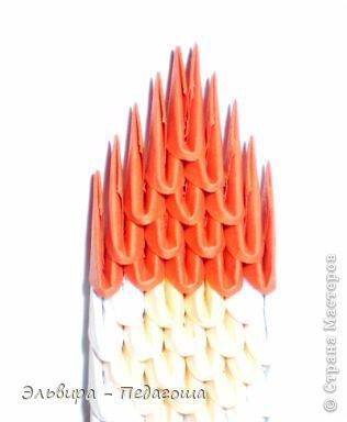 Мастер-класс Поделка изделие Новый год Оригами китайское модульное Санта-Клаус Бумага фото 19