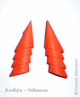 Мастер-класс Поделка изделие Новый год Оригами китайское модульное Санта-Клаус Бумага фото 20