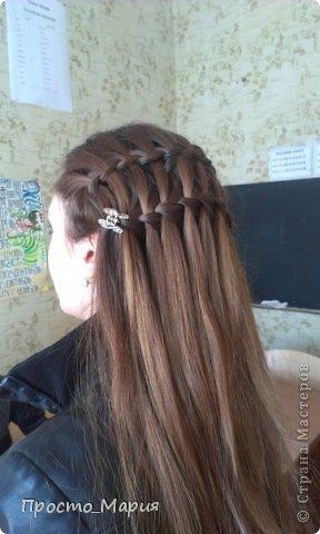 Плетение коса двойной водопад волосы