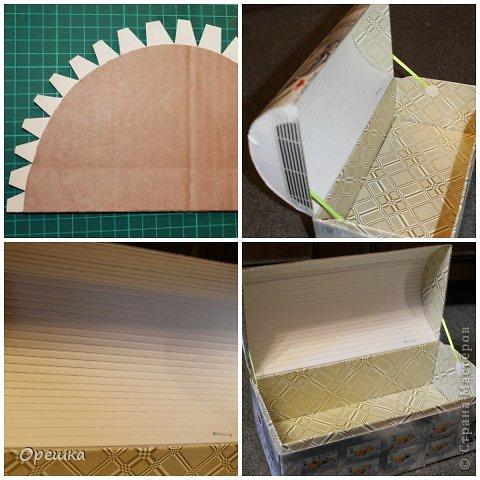 Поделка изделие Бумагопластика Пейп- арт сундук Салфетки фото 8