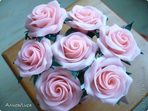 Поделка изделие Лепка Мои викторианские розы Фарфор холодный фото 1