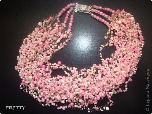Как сделать воздушное ожерелье из бисера