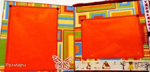 Красный альбом из искусственного меха в подарок малышке, день Рождения которой летом. Размер 15 на 15 см, 5 листов фото 8