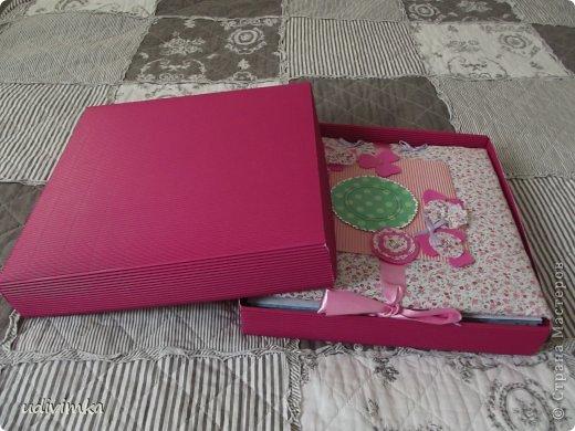 Альбом я уложила в спицальную коробочку
