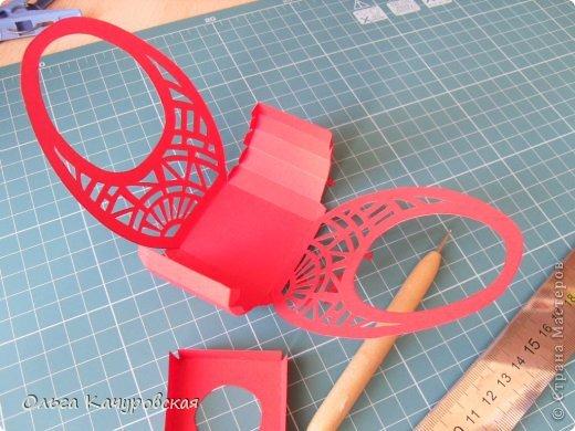 Мастер-класс Упаковка Пасха Вырезание Пасхальные корзинки Бумага фото 14