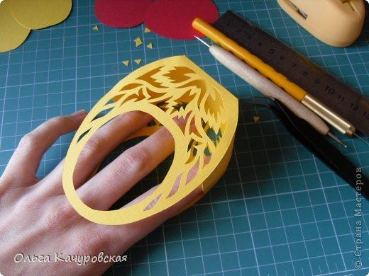 Мастер-класс Упаковка Пасха Вырезание Пасхальные корзинки Бумага фото 18