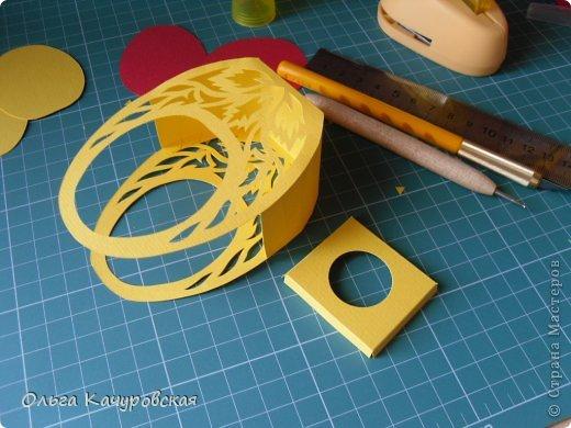 Мастер-класс Упаковка Пасха Вырезание Пасхальные корзинки Бумага фото 20