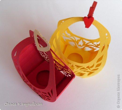 Мастер-класс Упаковка Пасха Вырезание Пасхальные корзинки Бумага фото 5
