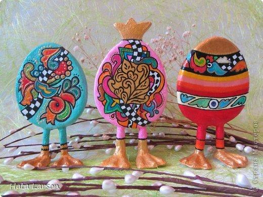 Мастер-класс Пасха Моделирование К Пасхе готовы Гипс Картон Краска Тесто соленое фото 1