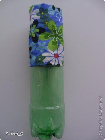 Мастер-класс Начало учебного года Шитьё Пластиковые контейнеры Мастер-класс Бутылки пластиковые Ленты Ткань фото 12