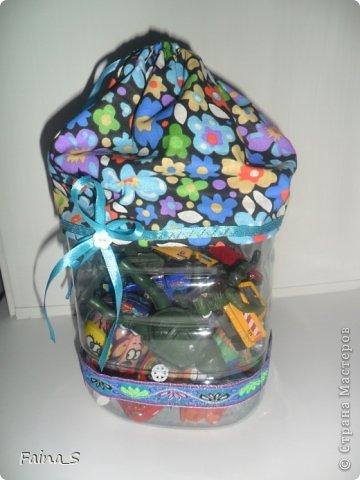 Мастер-класс Начало учебного года Шитьё Пластиковые контейнеры Мастер-класс Бутылки пластиковые Ленты Ткань фото 15